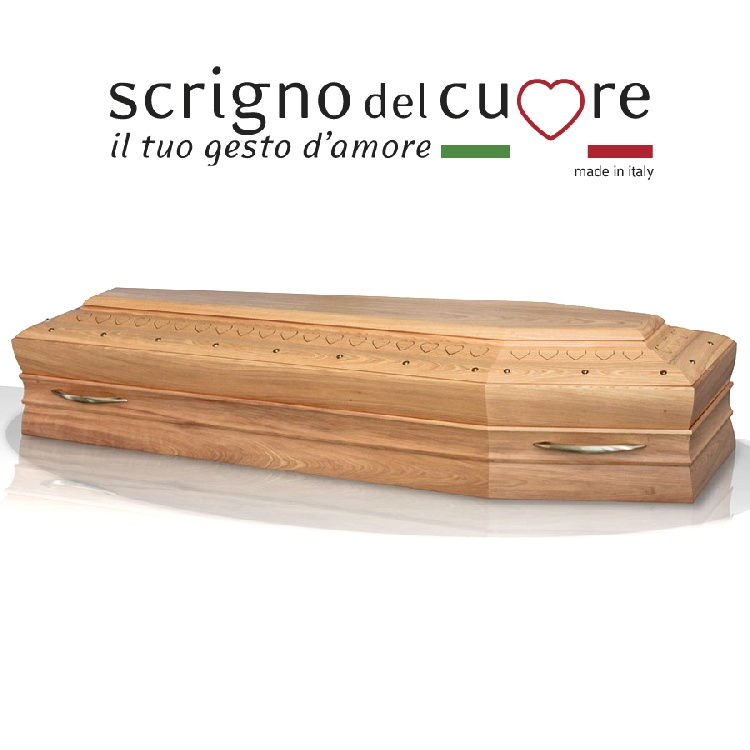 Cassa funebre modello NATURALE SPALLATA