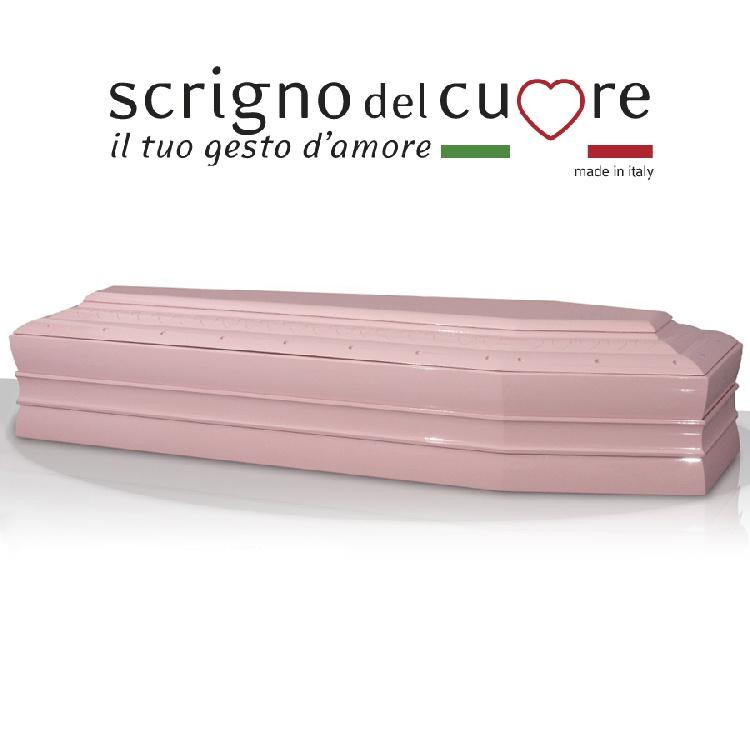 Cassa funebre modello LACCATA ROSA SPALLATA