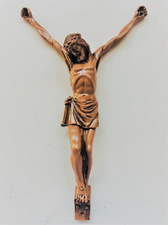CRISTO IN RESINA LUX COLORE BRONZO. immagine 2