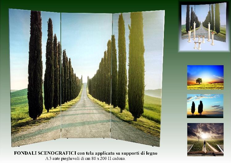 FONDALE SCENOGRAFICO PAESAGGIO