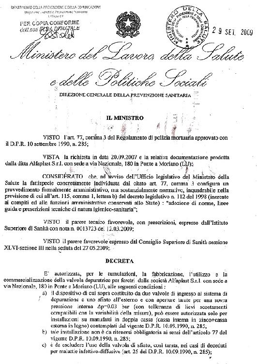 VALVOLA DEPURATRICE A.P.1 immagine 3