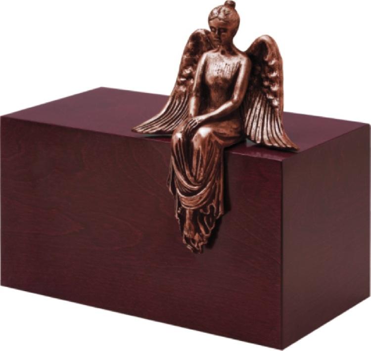 """Urna in legno e resina \""""Meditazione\"""" immagine 3"""