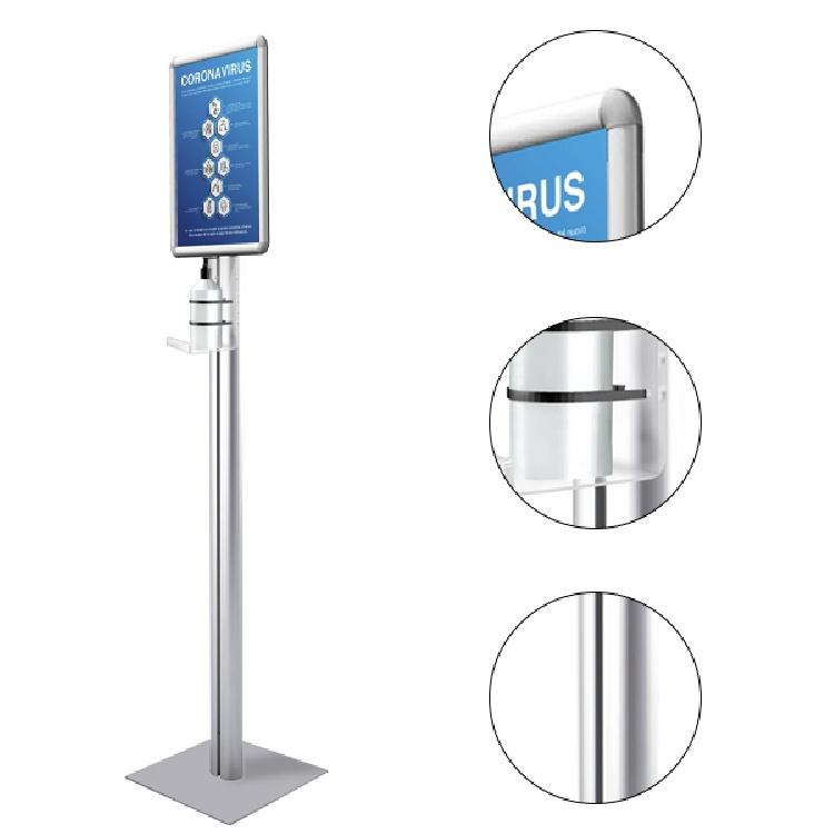 Porta dispenser autoportante in plexiglass con cornice a scatto + 20 dosatori gel mani immagine 2