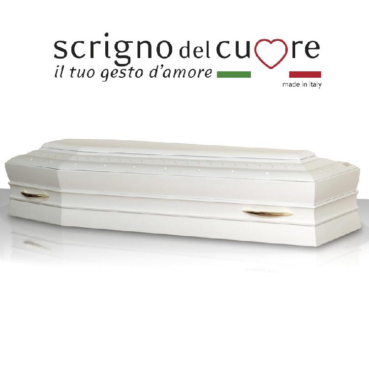 Cassa funebre modello LACCATA BIANCA SPALLATA